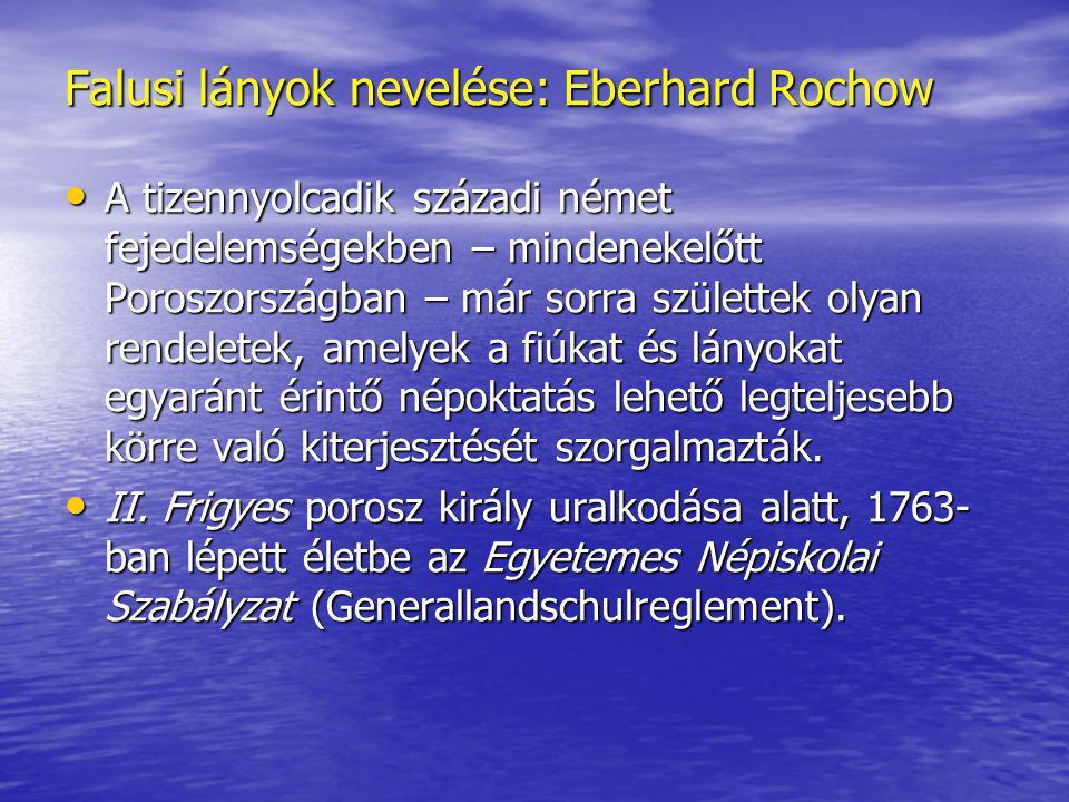 Falusi lányok nevelése: Eberhard Rochow