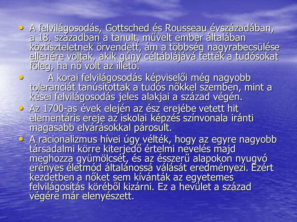 A felvilágosodás, Gottsched és Rousseau évszázadában, a 18