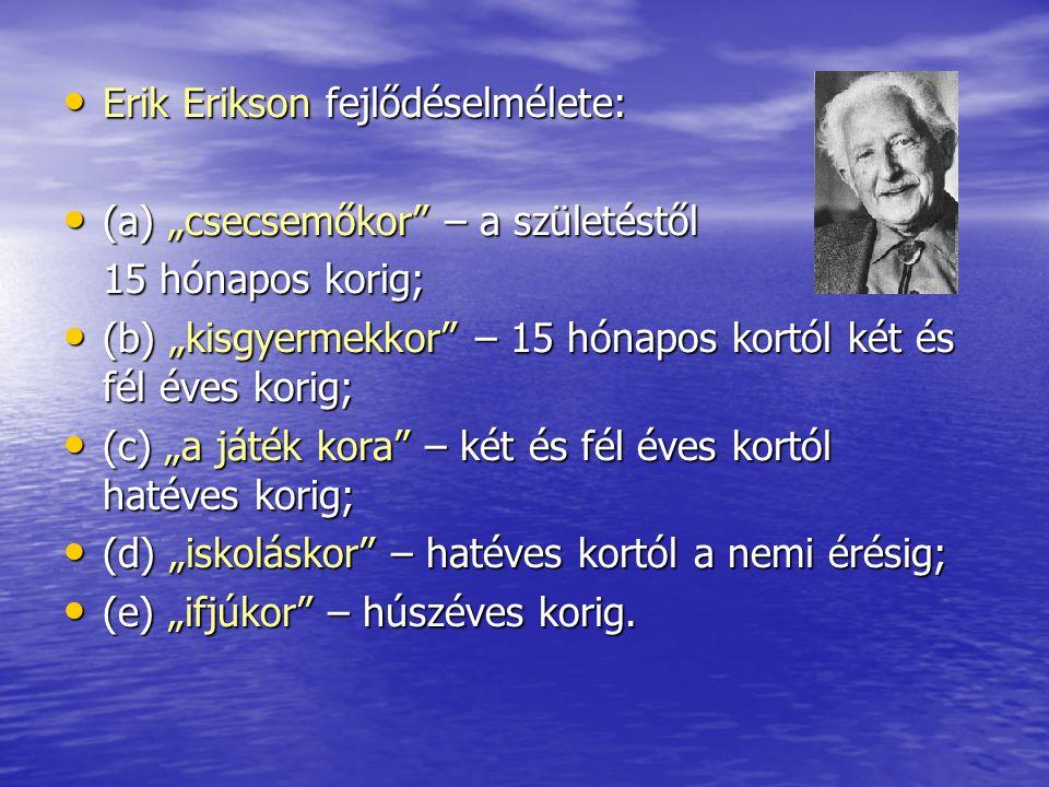 Erik Erikson fejlődéselmélete: