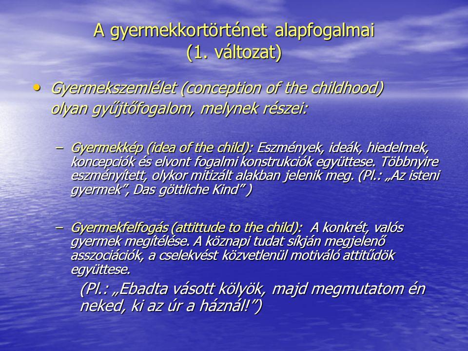 A gyermekkortörténet alapfogalmai (1. változat)