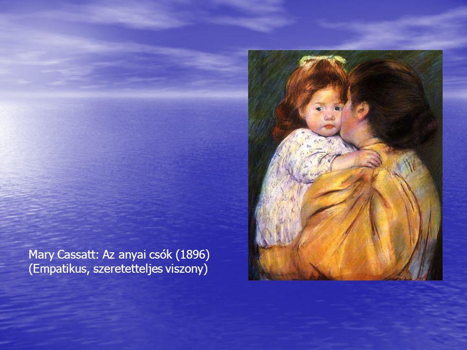 Mary Cassatt: Az anyai csók (1896)