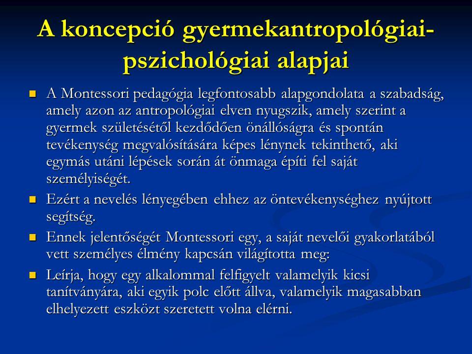 A koncepció gyermekantropológiai-pszichológiai alapjai