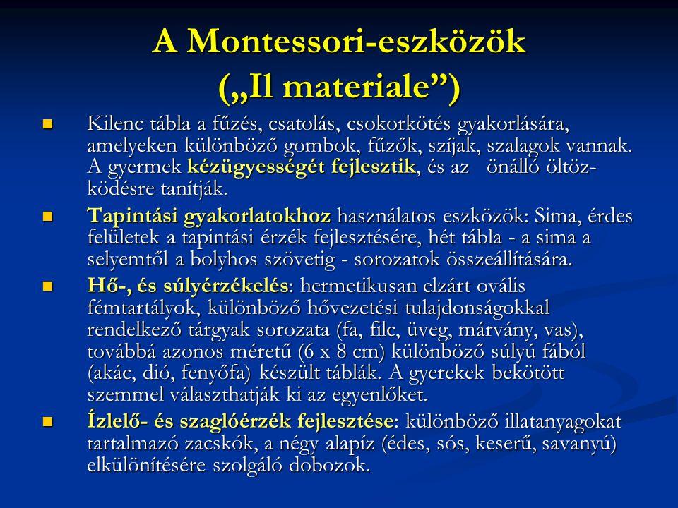 "A Montessori-eszközök (""Il materiale )"