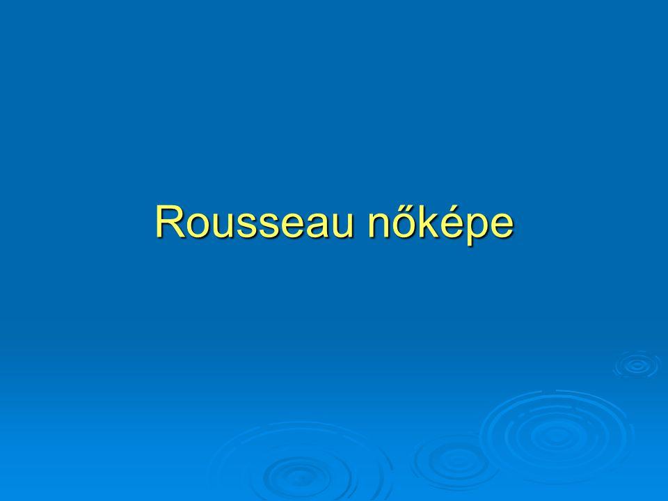 Rousseau nőképe