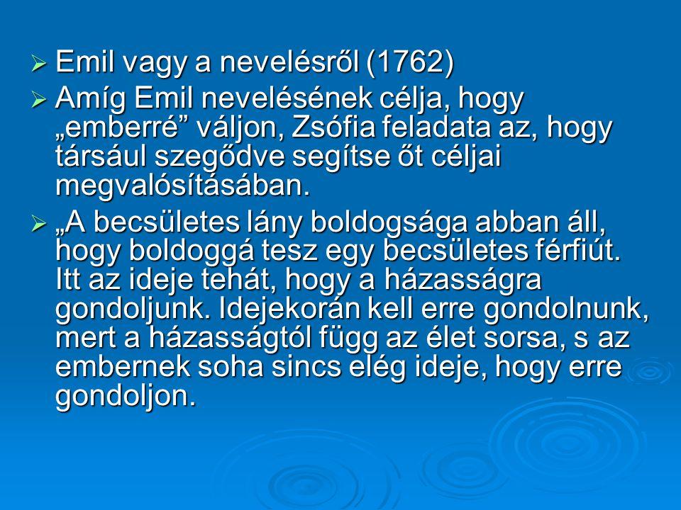 Emil vagy a nevelésről (1762)