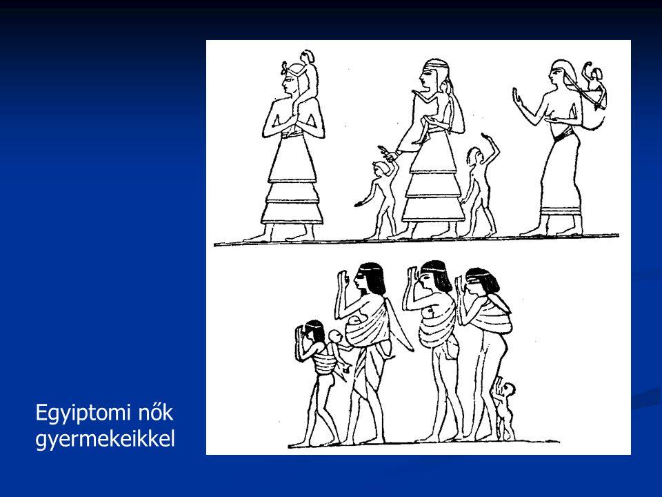 Egyiptomi nők gyermekeikkel