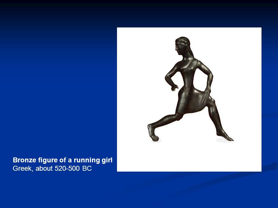Bronze figure of a running girl