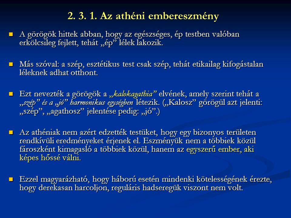 2. 3. 1. Az athéni embereszmény
