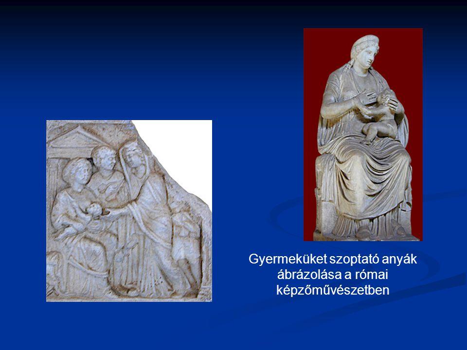 Gyermeküket szoptató anyák ábrázolása a római képzőművészetben