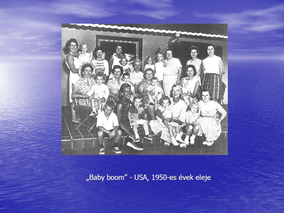 """""""Baby boom - USA, 1950-es évek eleje"""