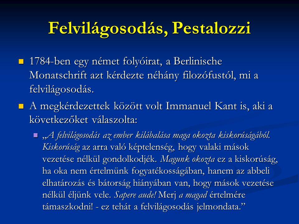 Felvilágosodás, Pestalozzi