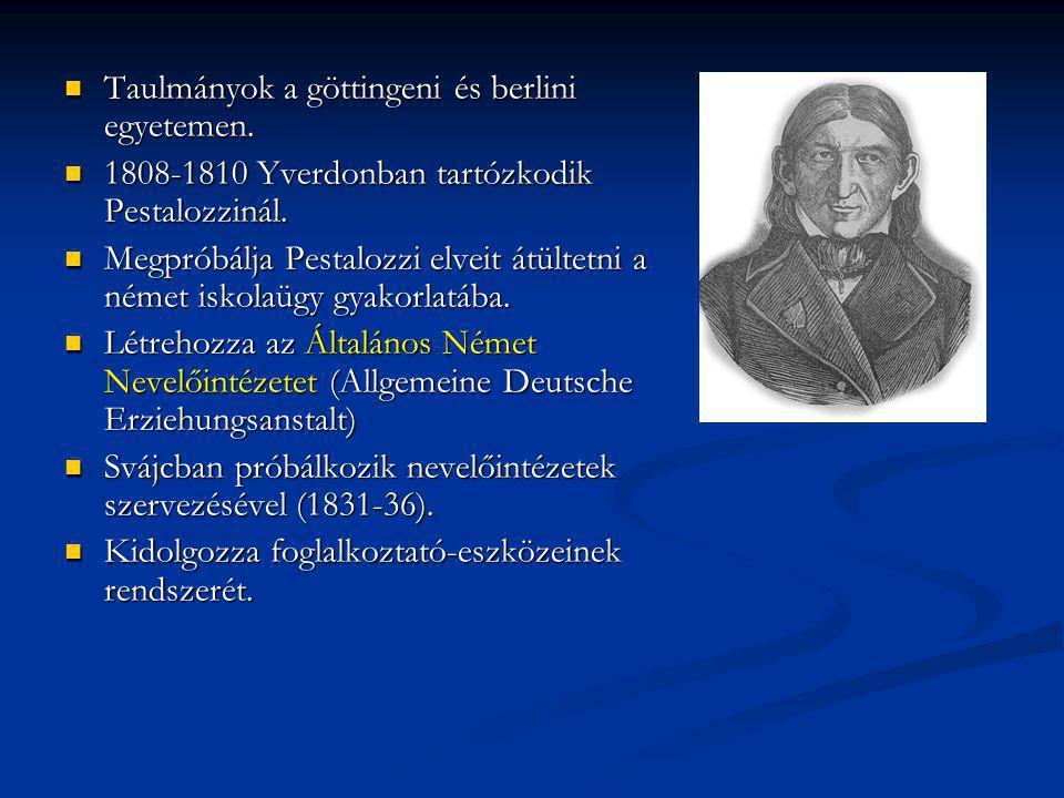 Taulmányok a göttingeni és berlini egyetemen.