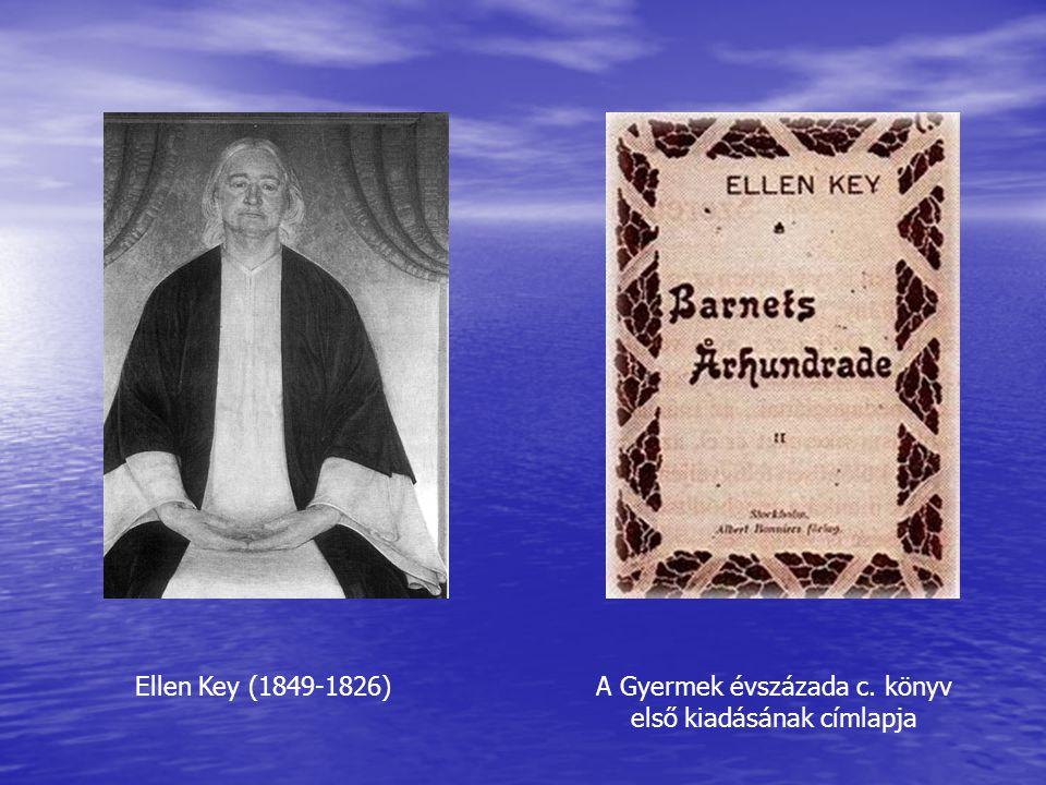 A Gyermek évszázada c. könyv első kiadásának címlapja
