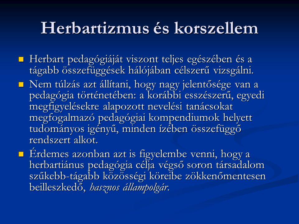 Herbartizmus és korszellem