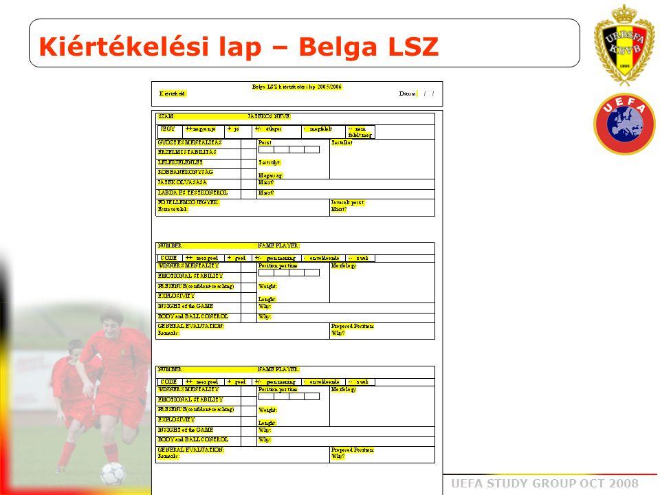 Kiértékelési lap – Belga LSZ