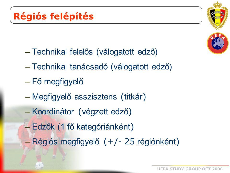 Régiós felépítés Technikai felelős (válogatott edző)