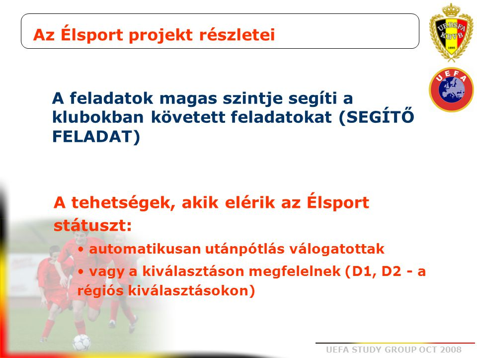 Az Élsport projekt részletei