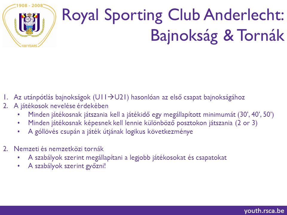 Royal Sporting Club Anderlecht: Bajnokság & Tornák