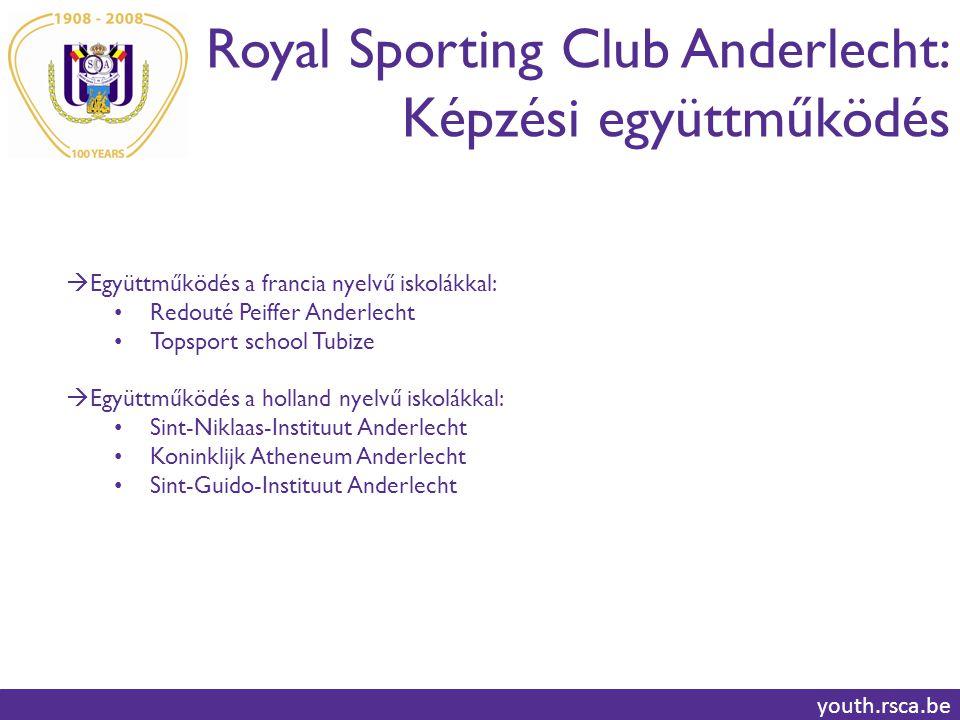 Royal Sporting Club Anderlecht: Képzési együttműködés