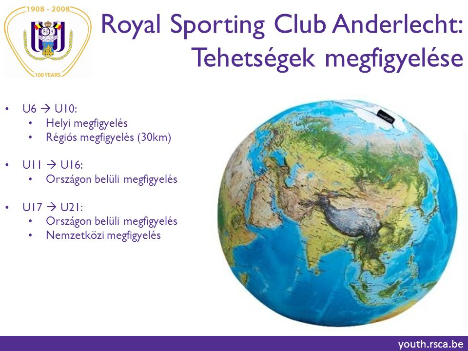 Royal Sporting Club Anderlecht: Tehetségek megfigyelése