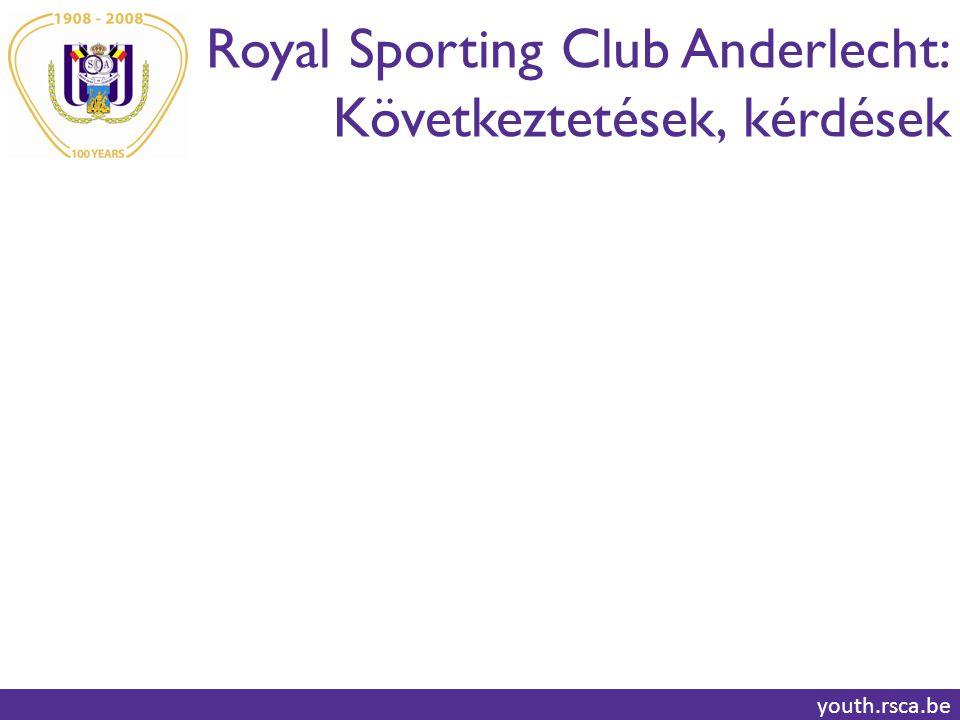 Royal Sporting Club Anderlecht: Következtetések, kérdések