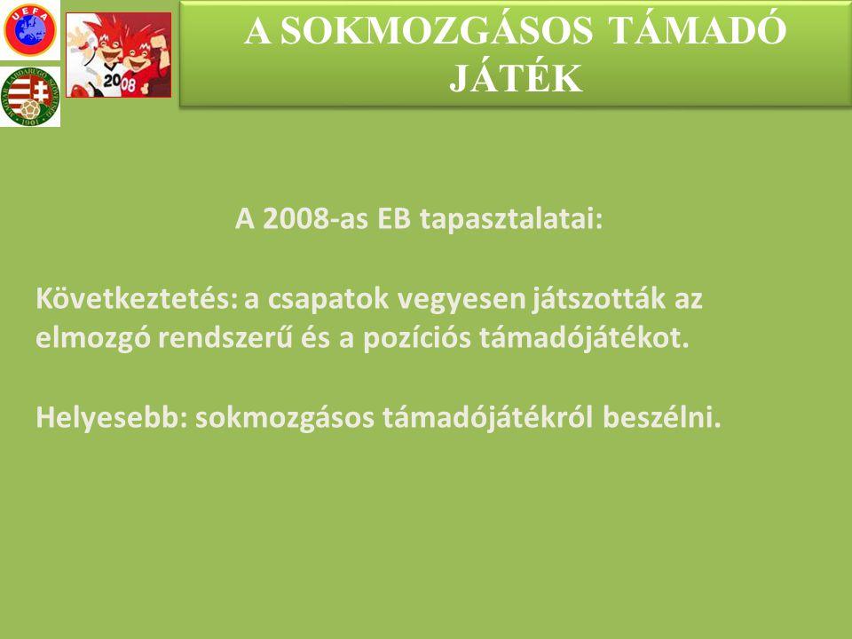 A SOKMOZGÁSOS TÁMADÓ JÁTÉK A 2008-as EB tapasztalatai: