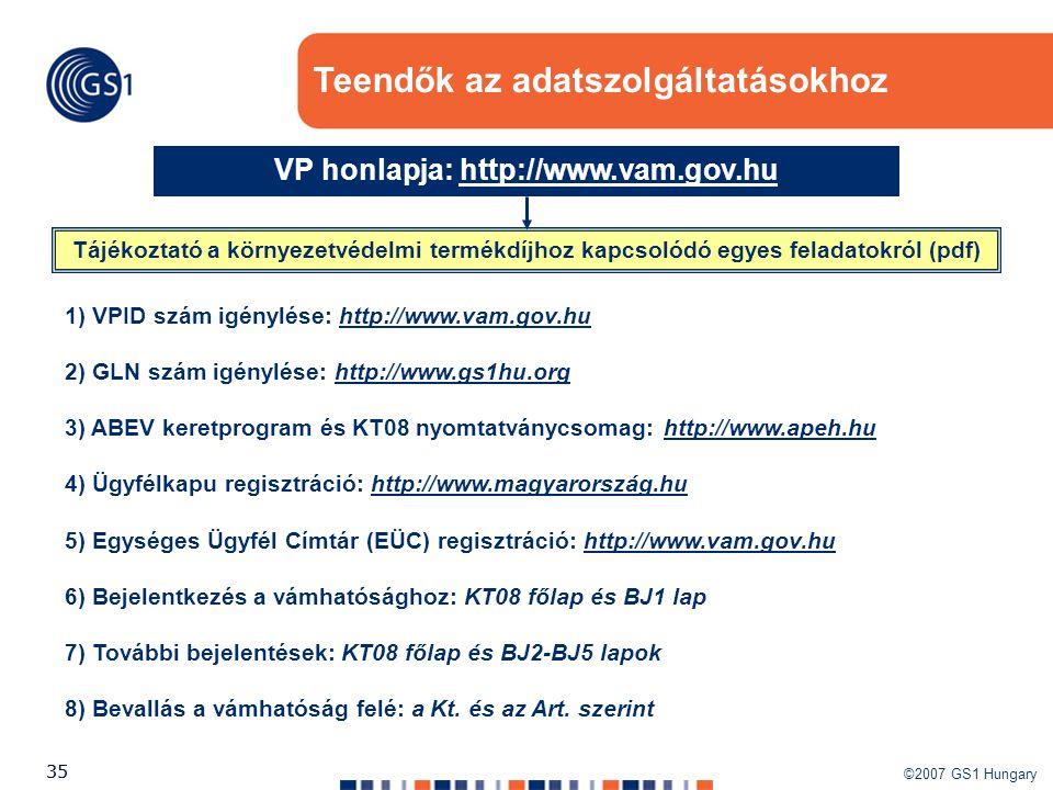 VP honlapja: http://www.vam.gov.hu
