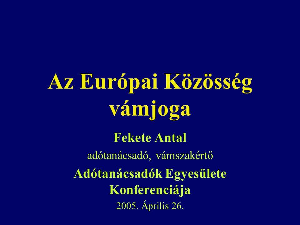 Az Európai Közösség vámjoga