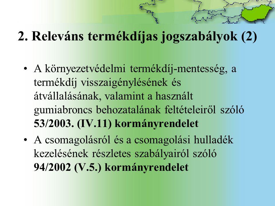 2. Releváns termékdíjas jogszabályok (2)