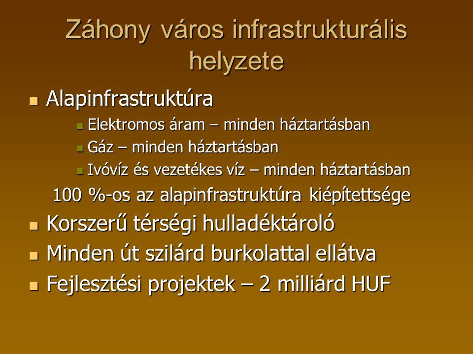 Záhony város infrastrukturális helyzete