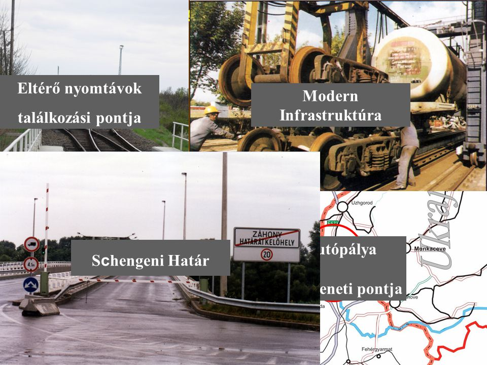 A Térség Stratégiai adottságai Modern Infrastruktúra