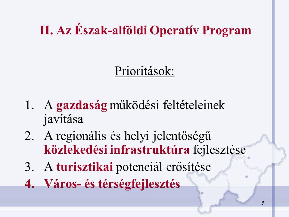II. Az Észak-alföldi Operatív Program
