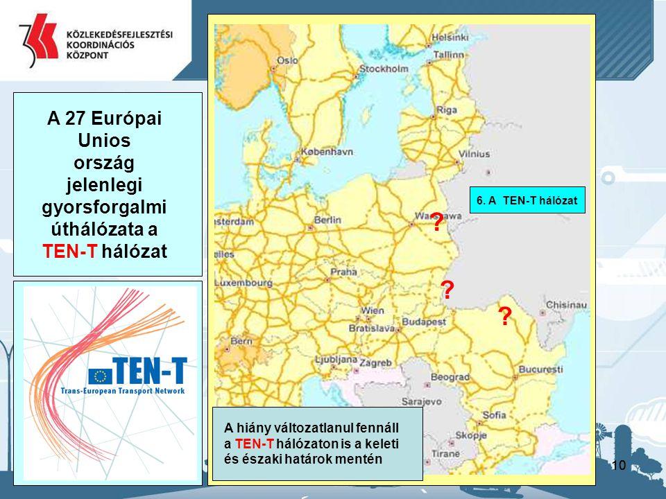 úthálózata a TEN-T hálózat