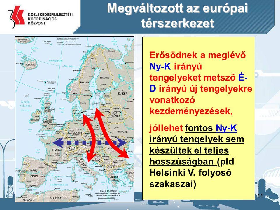 Megváltozott az európai térszerkezet