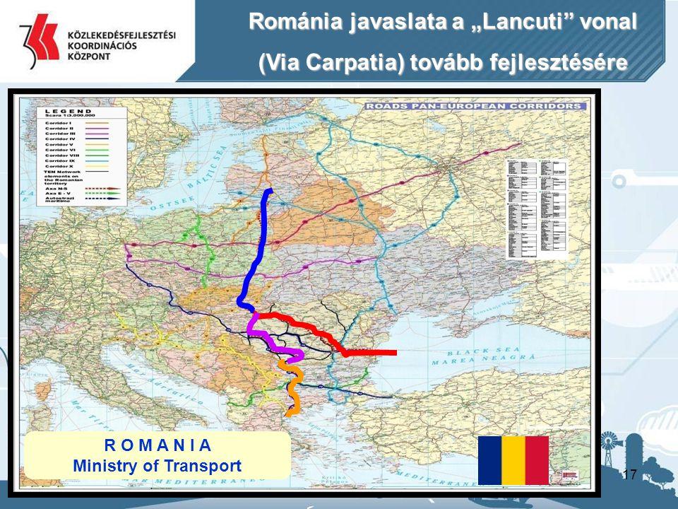 """Románia javaslata a """"Lancuti vonal"""