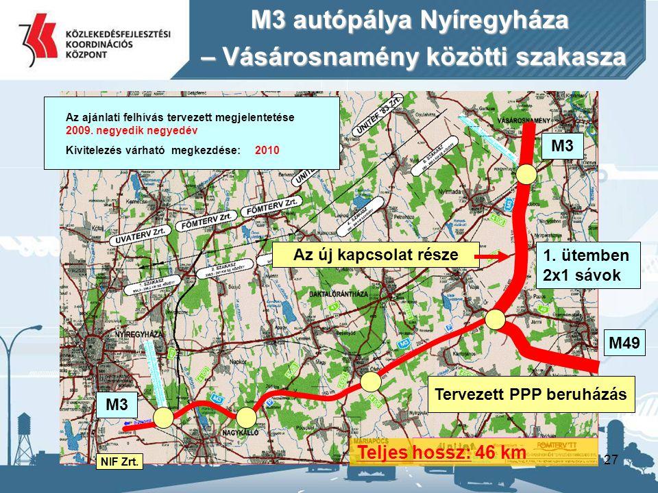 M3 autópálya Nyíregyháza – Vásárosnamény közötti szakasza