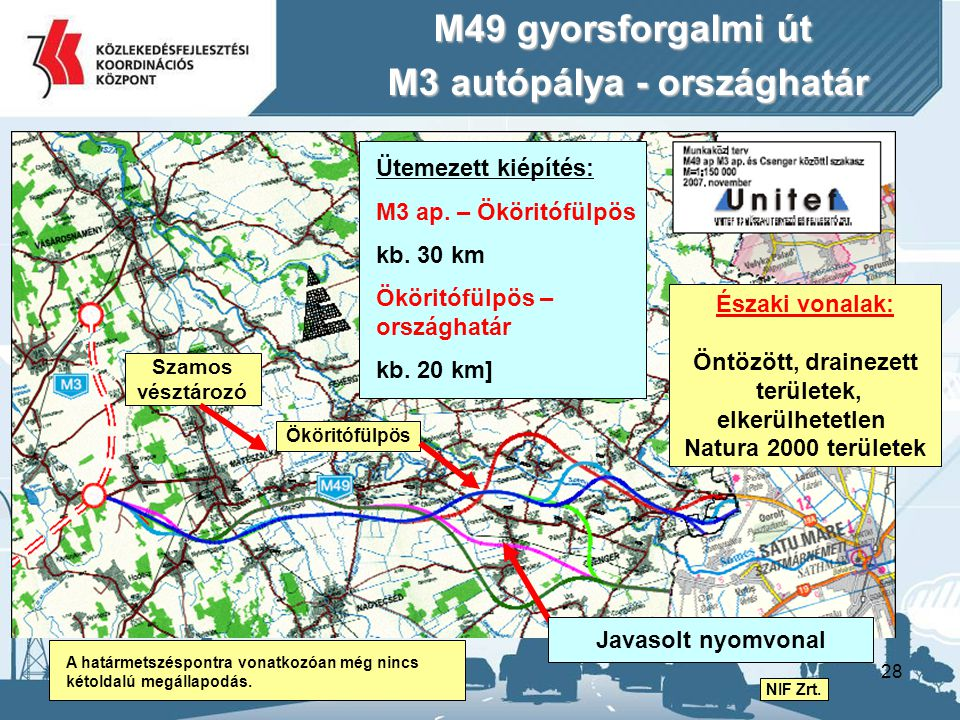 M3 autópálya - országhatár