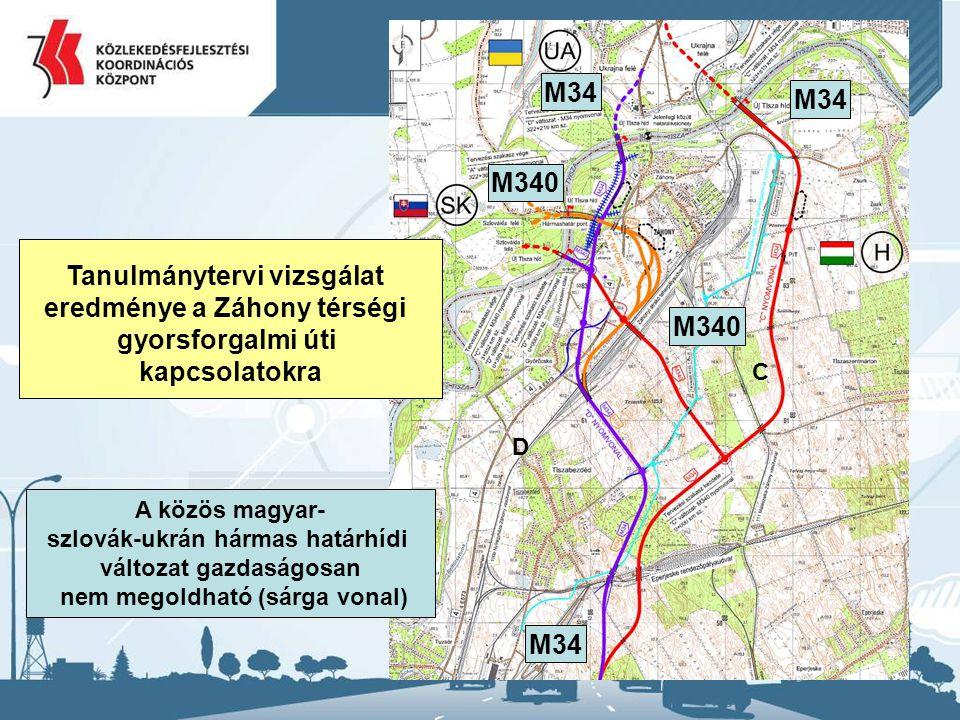 Tanulmánytervi vizsgálat eredménye a Záhony térségi gyorsforgalmi úti