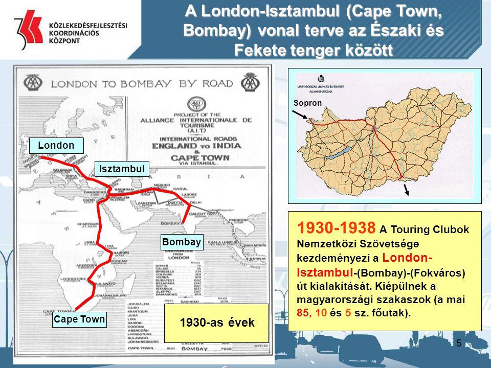 A London-Isztambul (Cape Town, Bombay) vonal terve az Északi és Fekete tenger között