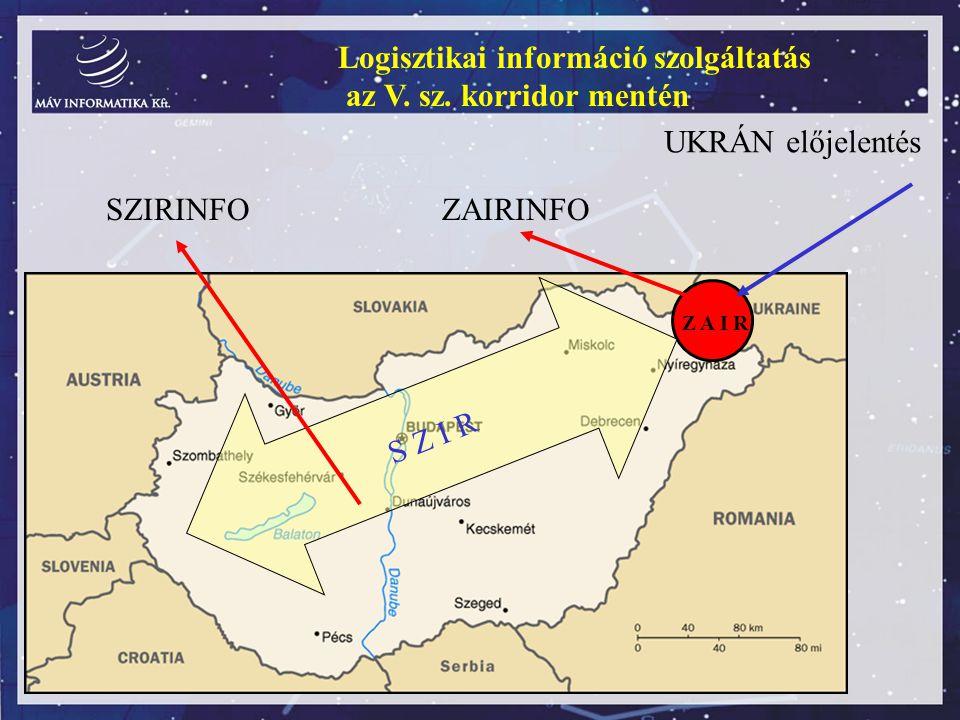 Logisztikai információ szolgáltatás az V. sz. korridor mentén