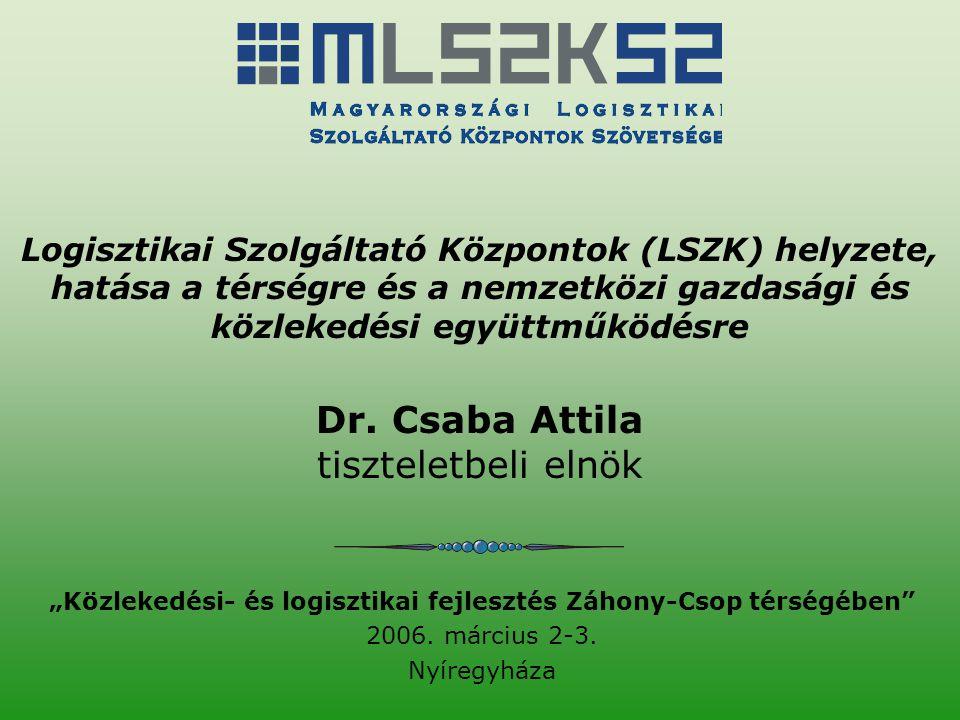 """""""Közlekedési- és logisztikai fejlesztés Záhony-Csop térségében"""