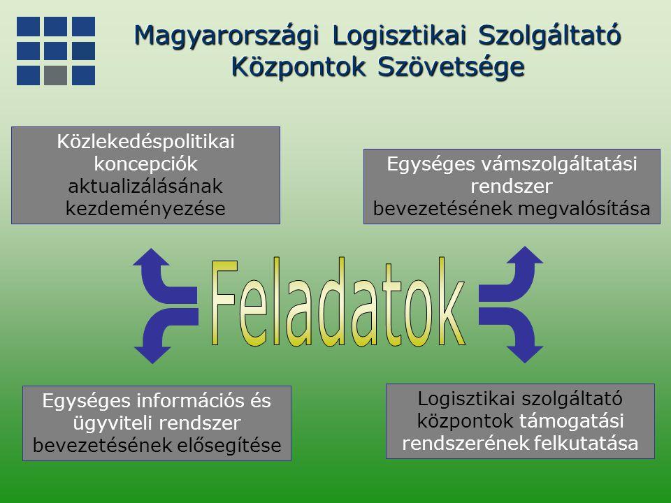 Feladatok Magyarországi Logisztikai Szolgáltató Központok Szövetsége
