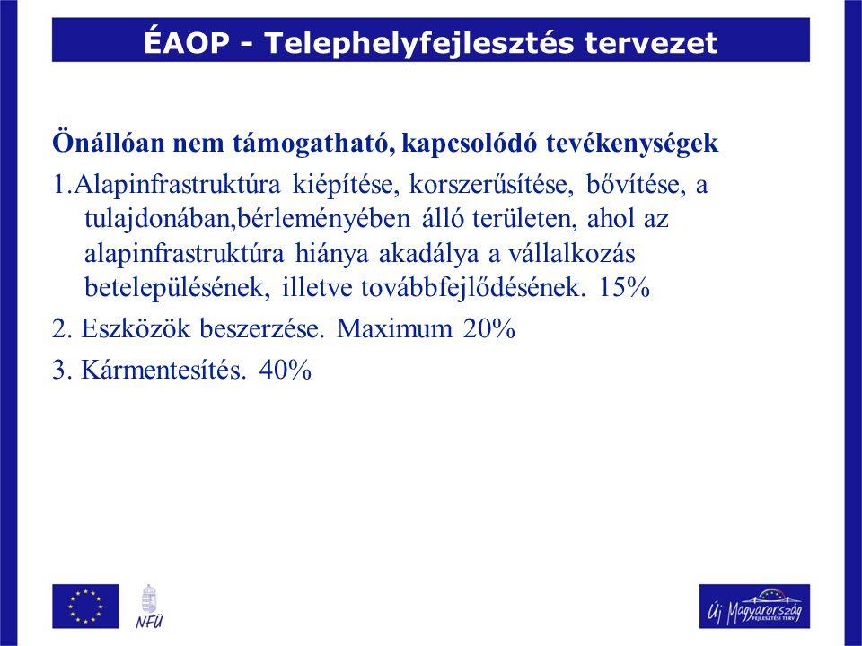 ÉAOP - Telephelyfejlesztés tervezet