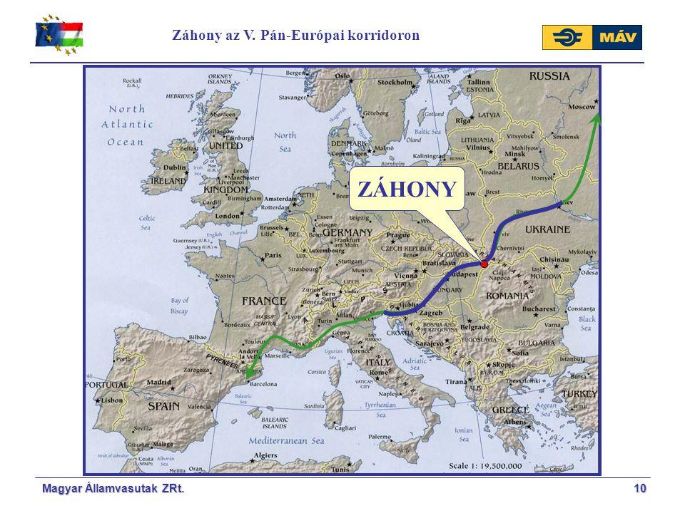 Záhony az V. Pán-Európai korridoron