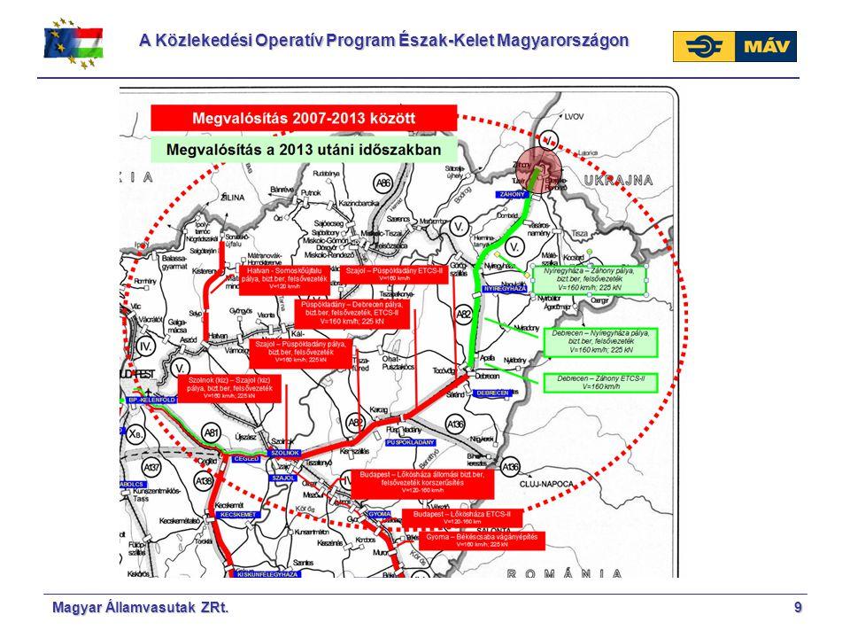 A Közlekedési Operatív Program Észak-Kelet Magyarországon