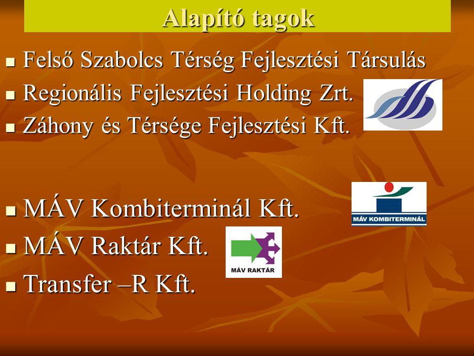 Alapító tagok MÁV Kombiterminál Kft. MÁV Raktár Kft. Transfer –R Kft.