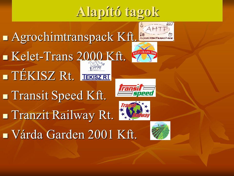 Alapító tagok Agrochimtranspack Kft. Kelet-Trans 2000 Kft. TÉKISZ Rt.