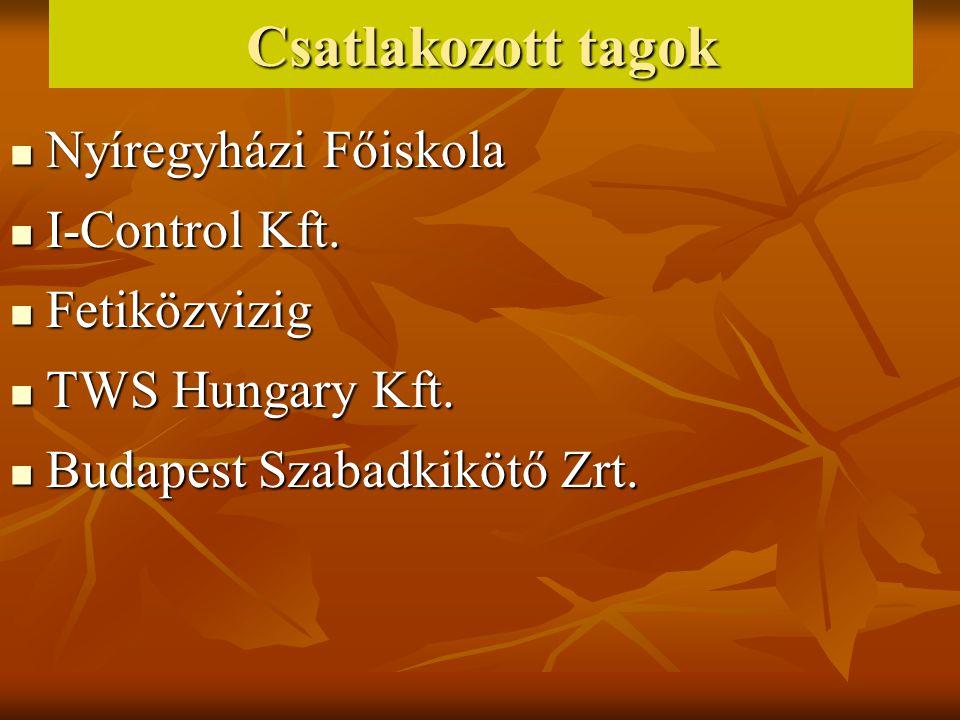 Csatlakozott tagok Nyíregyházi Főiskola I-Control Kft. Fetiközvizig