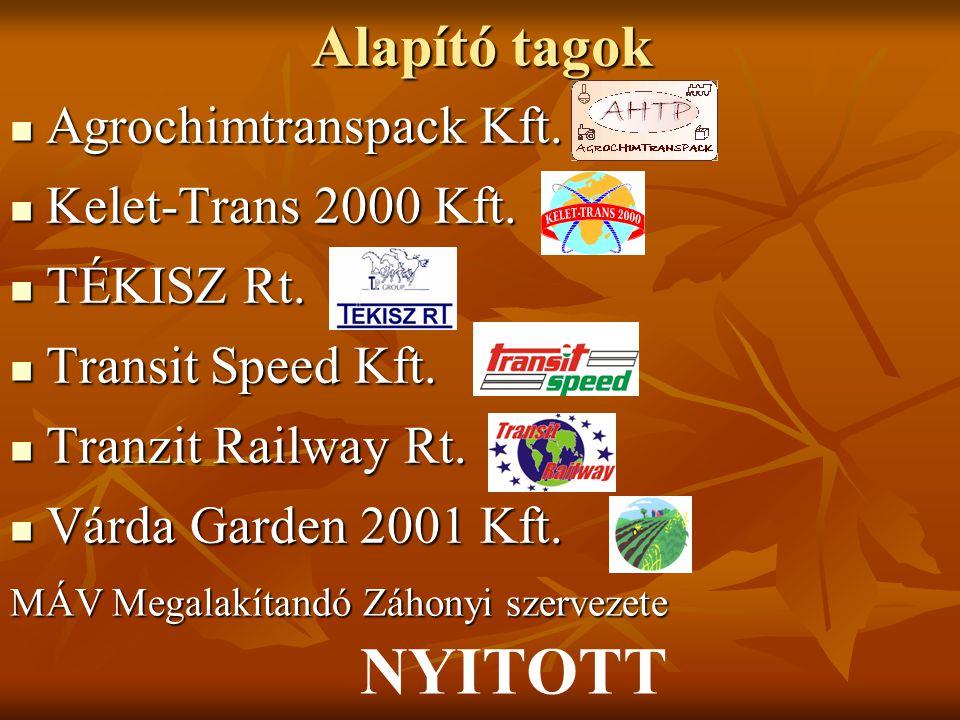 NYITOTT Alapító tagok Agrochimtranspack Kft. Kelet-Trans 2000 Kft.