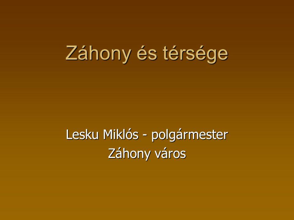 Lesku Miklós - polgármester Záhony város